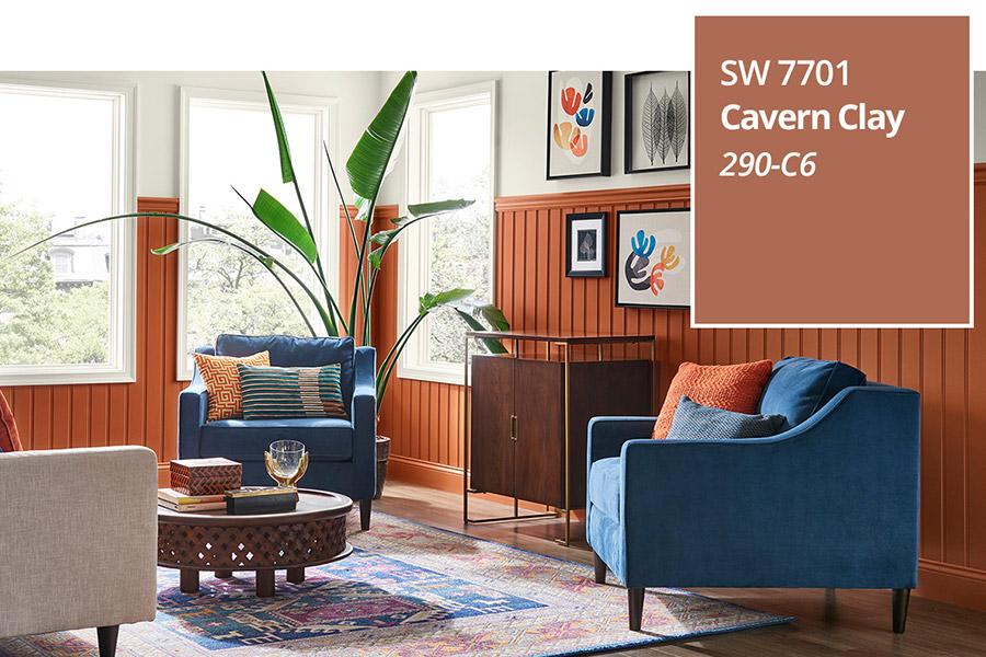CAVERN CLAY SW 7701 È IL COLORE DELL'ANNO 2019 PER SHERWIN-WILLIAMS
