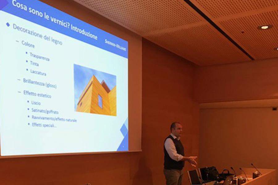 Grande successo della seconda edizione del seminario su I COLORI DEL LEGNO PER L'ARCHITETTURA DI INTERNI